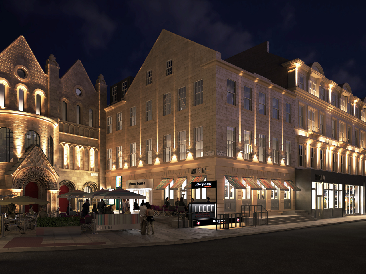 The exact lighting scheme was visualised to gain Counci approval