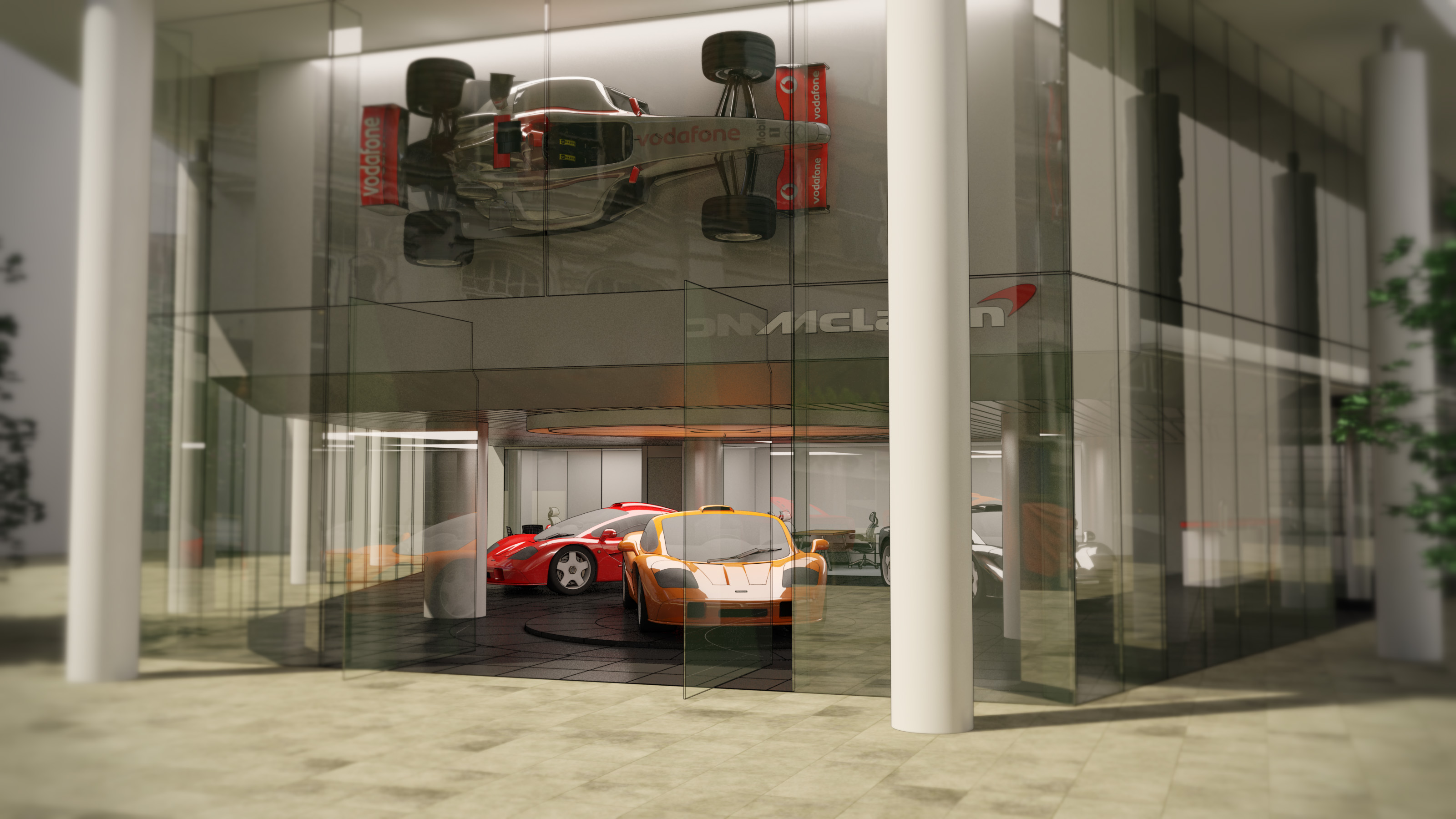 Mclaren london ads ltd 3d visualisation animation for Jardine motors